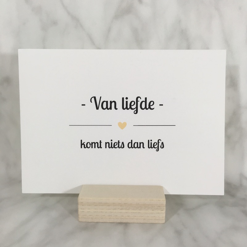 Postkaart 'van liefde'