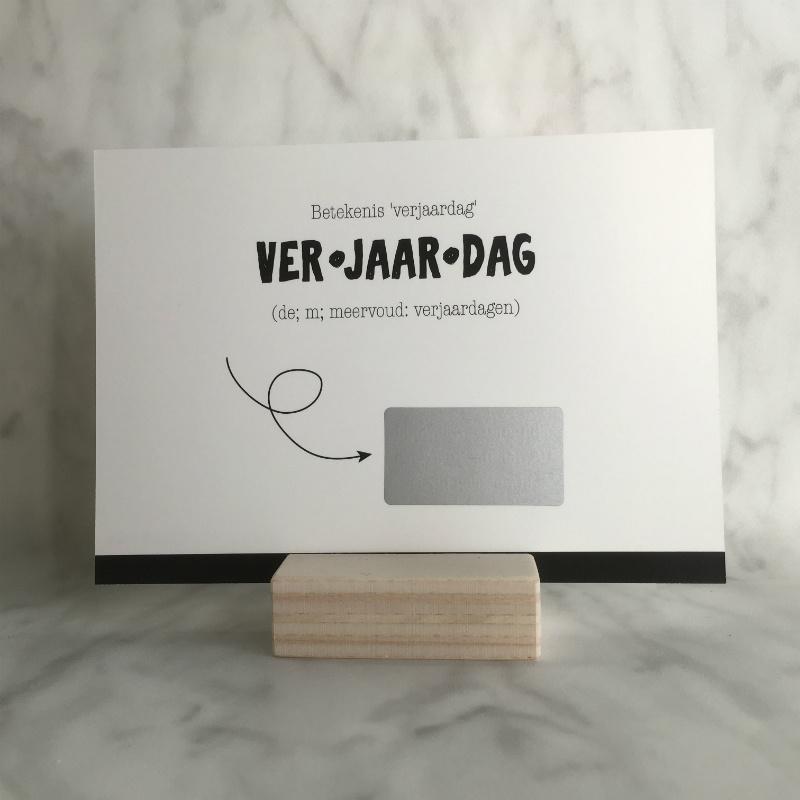Kraskaart 'VER-JAAR-DAG'