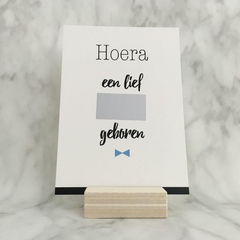 Kraskaart 'Hoera en lief jongetje geboren'