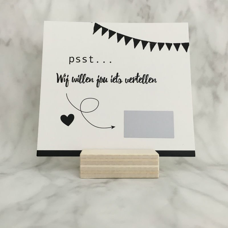 Kraskaart 'Wij gaan trouwen'