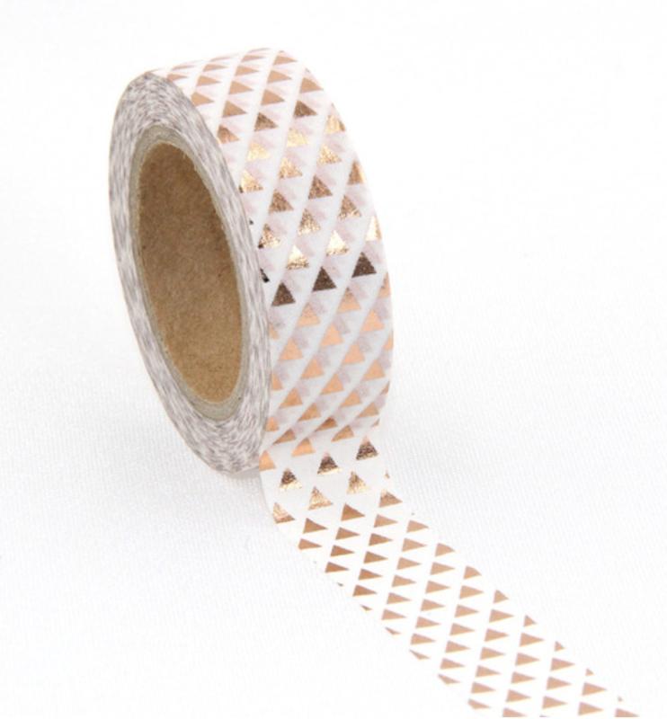 Washi-tape koperfolie drie-hoekjes