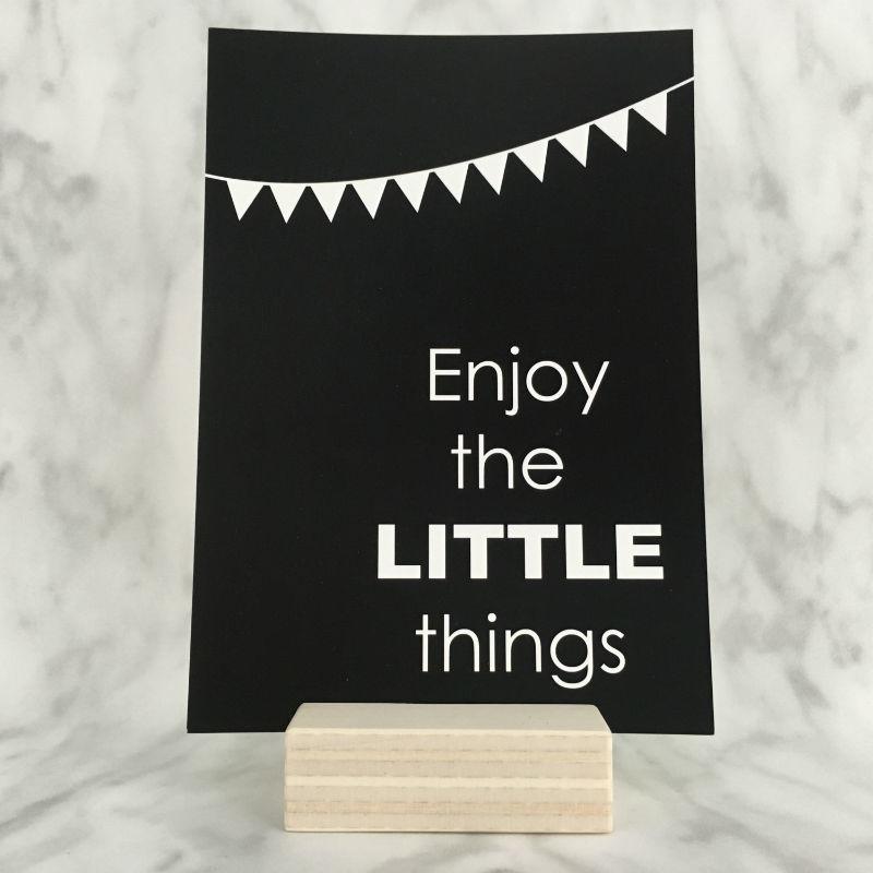 Postkaart 'Enjoy the little things'
