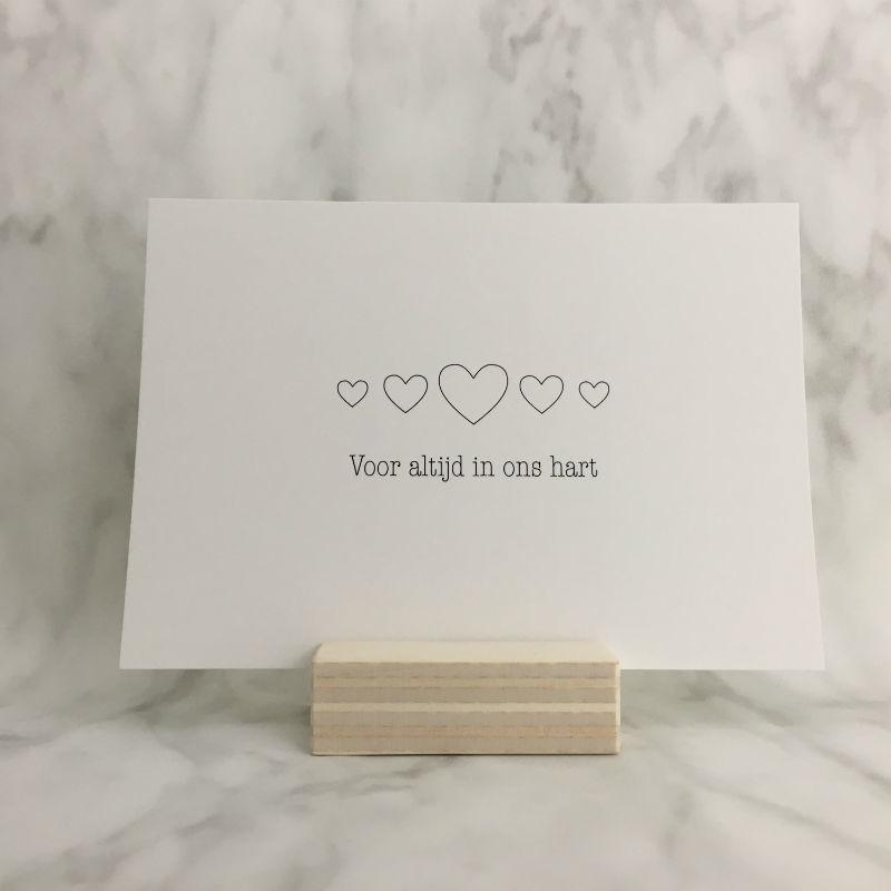 Rouwkaart  'Voor altijd in ons hart'
