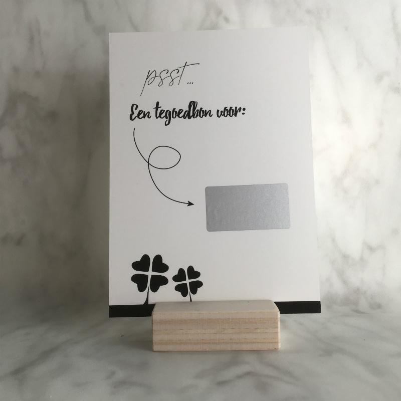 Kraskaart 'Een tegoedbon voor een leuk dagje'
