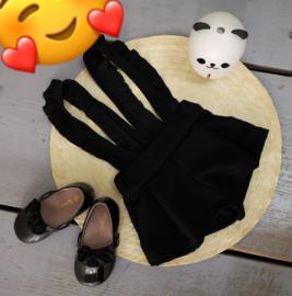 Suspender pants zwart