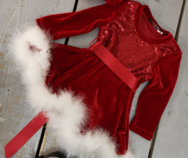 perfect Christmas dress inclusief  Baret    ( 2 kleuren)