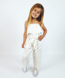 Jumpsuit with golden dots