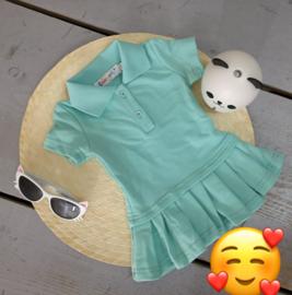 Polo dress mint