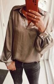 NAPOLI satin blouse taupe