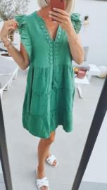 PAPAYA tetra sleeveless frill dress green