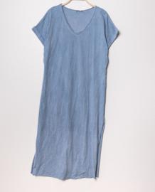 LUCINNE loose tee dress jeans blue