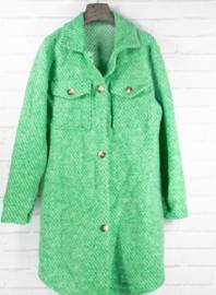 MILIE longer midi jacket green