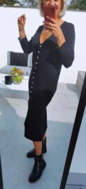 SAMIE knit buttonned dress black