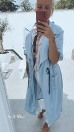 FRANCA summer version trench coat soft blue