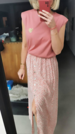 MADELIEF skirt soft pink