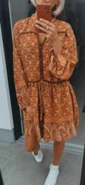 BOHO CHIQUE flowy dress camel