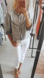 BELINDA tetra blouse grey