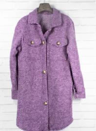 MILIE longer midi jacket purple