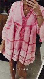 AVIGNON short tetra dress fuschia