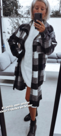 CHARLIE checkered jacket black