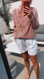 SHANA frill tetra blouse old pink
