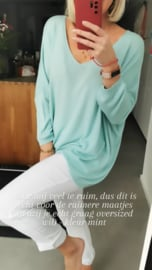 LIZA oversized sweater mint