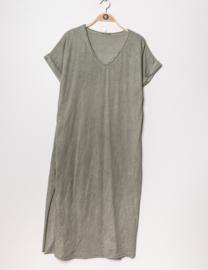 LUCINNE loose tee dress khaki
