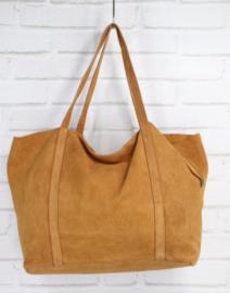 VERONA suede handbag camel
