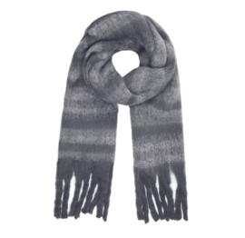 STRIPE ME UP scarf anthracite