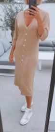 MAURA buttoned knit dress camel
