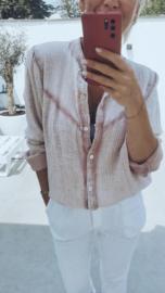 BELINDA tetra blouse soft pink