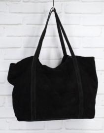 VERONA suede handbag black