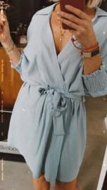 MEGAN Beach wrap dress / kimono blue