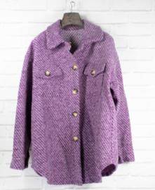 MILIE midi jacket purple