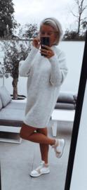 FUNKY knit dress soft grey