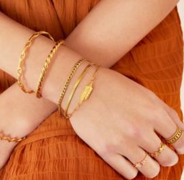 BE BRAVE bracelet gold