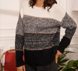 SOFIE panel sweater black