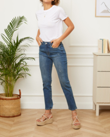 BLANDE straight mom jeans darker blue