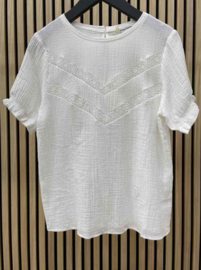 JOLINE tetra blouse white