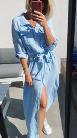 SANTORINI tetra maxi dress light blue