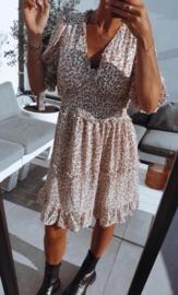 NINA frill dress ecru