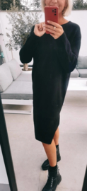 ROMY midi knit dress black
