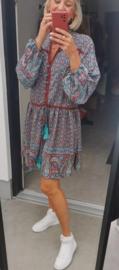 BOHO CHIQUE flowy dress teal