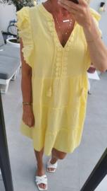PAPAYA tetra sleeveless frill dress yellow