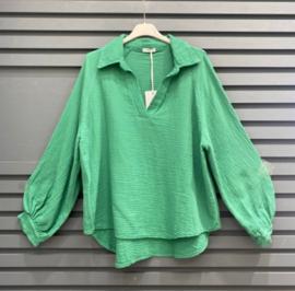 NAPOLI tetra blouse deep green