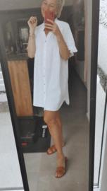 STROLL ON THE BEACH tetra dress white