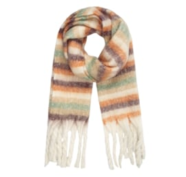 STRIPE ME UP scarf ecru