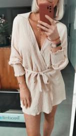 MEGAN Beach wrap dress / kimono beige