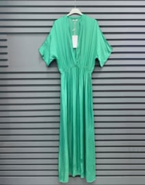I AM BEAUTIFUL satin dress green
