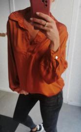 NAPOLI satin blouse brick